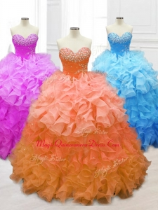 New Style Custom Made Quinceanera Gowns with Beading and Ruffles