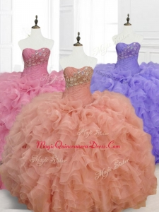 Low Price Custom Made Quinceanera Dresses with Beading