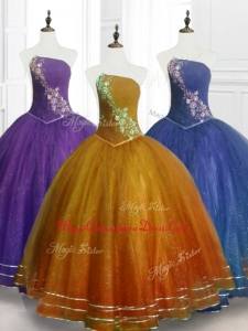 Lovely Ball Gown Strapless Custom Made Quinceanera Dresses