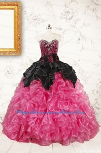 Trendy Multi Color Ball Gown Ruffled Quinceanera Dresses for 2015
