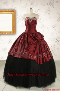 Formal Ball Gown Embroidery Quinceanera Dresses with Sweetheart