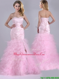 Luxurious Ruffled Taffeta and Tulle Dama Dress with Beading and Sequins