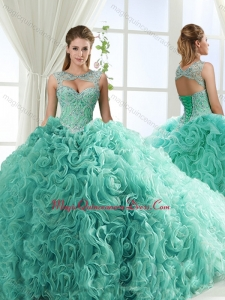 Couture Sweetheart Beaded Detachable Quinceanera Dresses with Rolling Flower