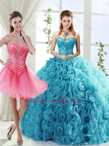 Classical Big Puffy Beaded Detachable Quinceanera Skirts in Rolling Flower