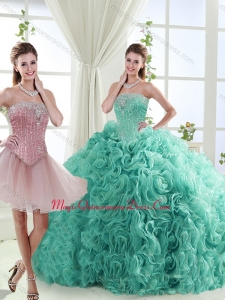 Popular Beaded Big Puffy Detachable Quinceanera Skirts in Rolling Flower