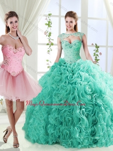 Elegant Beaded and Applique Detachable Quinceanera Skirts in Rolling Flower