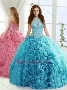 Fashionable Halter Top Detachable Quinceanera Skirts with Beading and Appliques