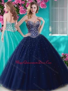 Artistic Big Puffy Tulle Quinceanera Dress with Beading and Rhinestone