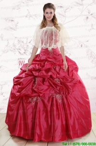 2015 New Style Strapless Appliques Quinceanera Dresses