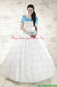 Discount White Quinceanera Dresses with Appliques