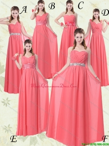 New Arrival Watermelon Dama Dresses with Ruching and Beading