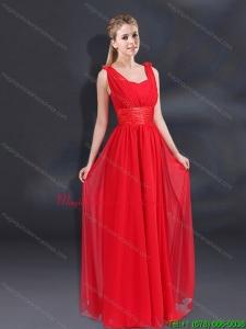 New Arrival Empire Straps 2015 Dama Dresses