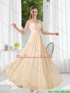 Discount 2015 Straps Empire Bowknot Lace Dama Dresses