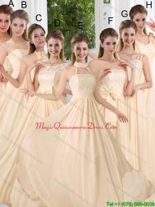 Discount Empire Ruching 2015 Floor Length Dama Dresses