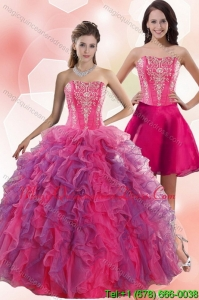 Detachable 2015 Spring Multi Color Quinceanera Dresses with Appliques