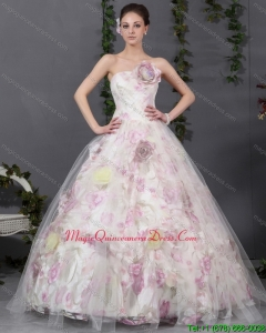 2015 Modern Multi Color Quinceanera Gowns with Hand Made Flowers