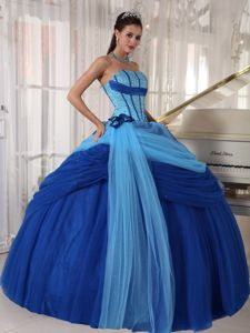 Lace-up Two-toned Floor-length Beaded Sweet Sixteen Dresses on Discount