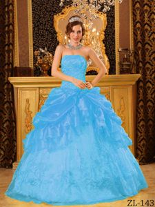 Fast Shipping Appliqued Aqua Blue Quinceanera Gown Dress under 200