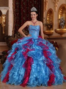 Sweetheart Floor-length Organza Beaded Quinceanera Dresses in Scranton PA