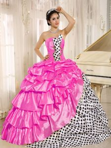 Multi-colored Strapless Quinceanera Gown Dresses in Flower Mound TX