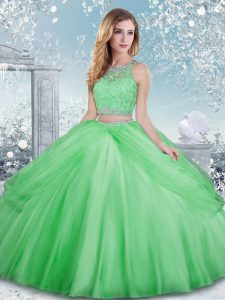 Scoop Sleeveless Clasp Handle Sweet 16 Dresses Tulle