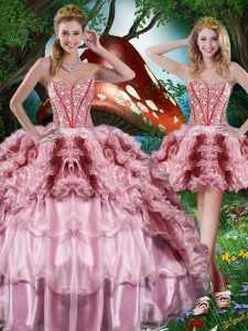 Fashion Floor Length Multi-color Quinceanera Dress Sweetheart Sleeveless Lace Up