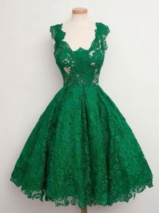Extravagant Green Straps Neckline Lace Quinceanera Court Dresses Sleeveless Zipper