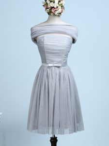 Grey Side Zipper Vestidos de Damas Belt Sleeveless Mini Length