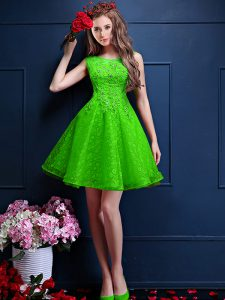 Discount Beading and Lace Court Dresses for Sweet 16 Lace Up Sleeveless Knee Length