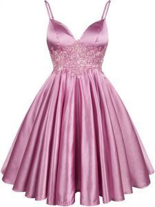 Romantic Sleeveless Lace Lace Up Quinceanera Court of Honor Dress
