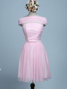 Tulle Sleeveless Mini Length Court Dresses for Sweet 16 and Belt
