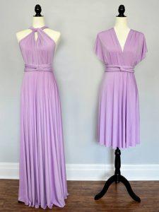 On Sale Chiffon Sleeveless Floor Length Damas Dress and Ruching