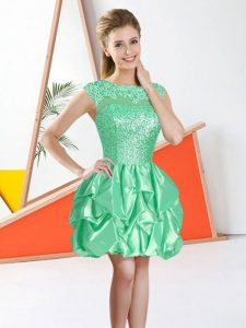 Sleeveless Backless Knee Length Beading and Lace and Ruffles Court Dresses for Sweet 16