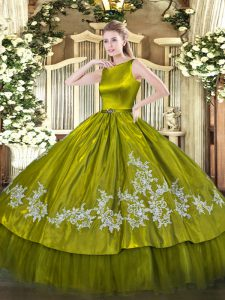 Pretty Sleeveless Clasp Handle Floor Length Embroidery Quinceanera Dresses