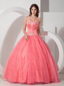 Huntsville AL Appliqued Watermelon Quinceanera Gown Dress Cheap
