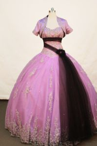Appliques Strapless Lavender Quinceanera Dress in Sincelejo Colombia