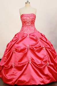 Strapless Pick-ups Appliques Hot Pink Quince Dress in El Cerrito Colombia