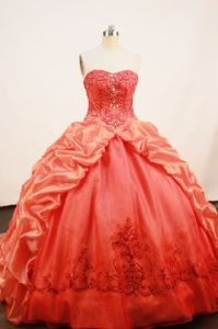 Pick-ups Strapless Sweep Train Orange Quince Dress in Armenia Colombia