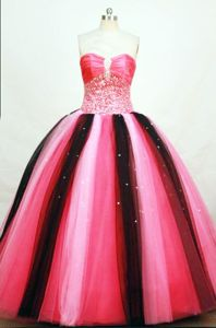 Colorful Strapless Tulle Beading Quinceanera Dress in Cali Colombia