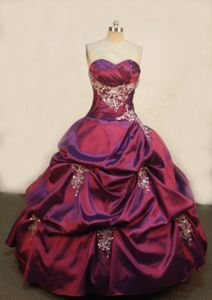 Sweetheart Appliques Purple Pick-ups Quinceanera Dresses in Iquitos Peru