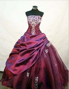 Appliques with Beading Strapless Quinceanera Dresses in Reynosa Mexico