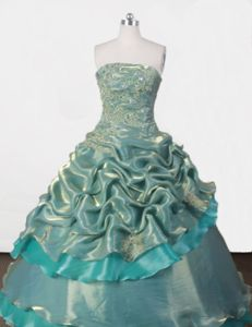 Green Strapless Appliques Quince Dress in Santiago del Estero Argentina