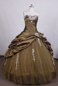 Brown Strapless Beading Pick-ups Quinceanera Dress in Rosario Argentina