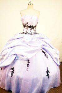 Lavender Appliques Pick-ups Strapless Quince Dress in Imperatriz Brazil