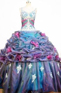 Strap Appliques and Pick-ups Quinceanera Dresses in Porto Alegre Brazil