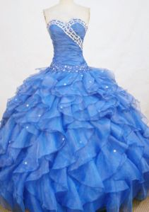 Sweetheart Beading Ruffles Quinceanera Dress in Mar del Plata Argentina