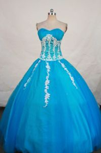 Appliques Sweetheart Baby Blue Quinceanera Dresses in Cobija Bolivia