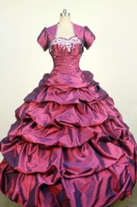 Beading and Appliques Sweetheart Red Quinceanera Dress in Sorocaba Brazil