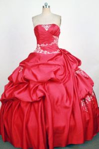 Hot Pink Strapless Beading Pick-ups Quinceanera Dress in Trinidad Bolivia