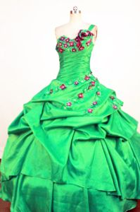 One Shoulder Appliques Spring Green Quince Dress In Guayaquil Ecuador